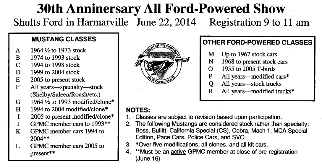 30th Anniversary All Ford-Powered Show