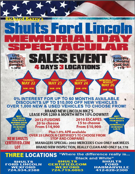 Memorial Day Spectacular Sales Event