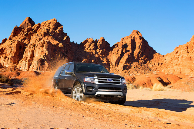 2017 Ford Expedition driving in the desert