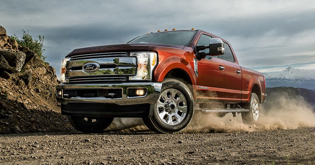 2020 Ford Super Duty engine (2018 model pictured)